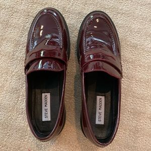 Steve Madden Patent Leather Loafers Size 9